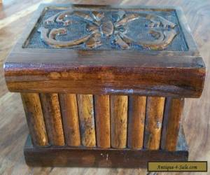 Vintage wooden secret lock box for Sale