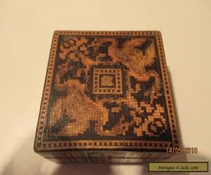 """TUNBRIDGE WARE BOX (aprox 2"""" square x 1"""" high) for Sale"""