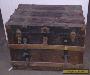 Antique Wood Railroad Trunk Chest - Rare Vintage Pice of Americana  for Sale