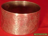 Antique Sterling Napkin Ring 1891, Martin, Hall & Co