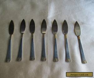 7 ANTIQUE 800 SILVER & GILT PATE SERVERS/ KNIVES for Sale