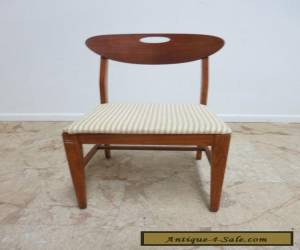 Vintage Danish modern Walnut Scoop Back Dining Room Side Desk Chair B for Sale