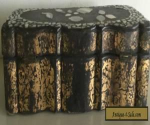 ANTIQUE VICTORIAN PAPIER MACHE GLOVE BOX for Sale