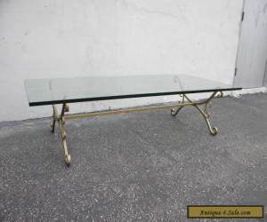 Mid-Century Brass Glass-Top Coffee Table 4079 for Sale