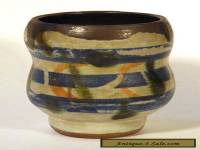 1958 Fine Vintage STUDIO POTTERY VASE Signed Dated Abstract Mid-Century Modern