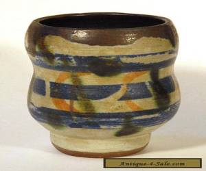 1958 Fine Vintage STUDIO POTTERY VASE Signed Dated Abstract Mid-Century Modern  for Sale