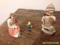 2 PRECIOUS PORCELAIN FIGURINES AND COMIC BOOK GUY LEGO MAN ~ RARE !!
