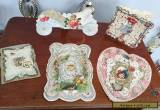5 Antique Die Cut Valentine Cards,AS IS,Lithograph,Artist Made,Children,Lace,3D for Sale