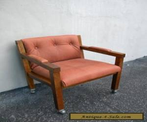 Vintage Mid-Century Modern Oak Side by Side Chair 5457 for Sale