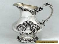 1975 VICTORIAN ROCOCO REVIVAL KING FRANCIS REED & BARTON SYRUP PITCHER CREAMER