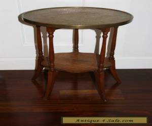 Vintage Mid Century/ Hollywood Regency Wood and Brass Side Table for Sale