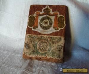 antique/vintage wooden jamaica cigar box for Sale