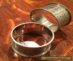pair of Beautiful vintage Silver Plated Napkin Rings 2.3cm x 4.5cm for Sale