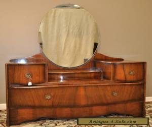 *VINTAGE ART DECO WALNUT STYLISH DRESSER WITH MIRROR BACK, DRESSING TABLE* for Sale