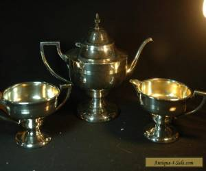 Silverplated Teapot, Creamer, Sugar  for Sale