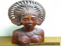 Vintage antique Balinese Woman carved nude sculpture exceptional quality
