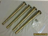 "Metal Brass Tone Tapered Table Legs 18"" set of 4 Vintage"