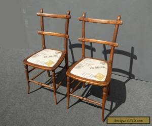 Vintage French Country Cottage Style Carved Wood Accent CHAIRS Farmhouse Chic  for Sale