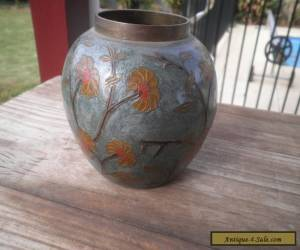Enamel solid brass vase bowl made in India for Sale