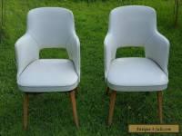 2 Vintage Retro Mid Century Modern Lounge Thonet Chair Lot