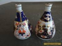 Pair bud vases antique china Old Darby