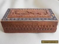 Vintage Carved and Inlaid Box - Snuff - Trinkets - Pill etc.,
