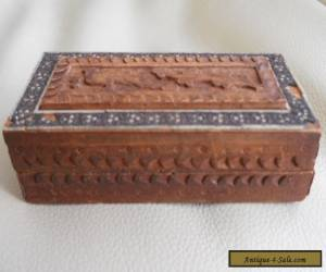 Vintage Carved and Inlaid Box - Snuff - Trinkets - Pill etc., for Sale