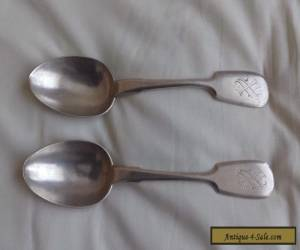 PAIR OF RUSSIAN SOLID SILVER TABLE SPOONS for Sale