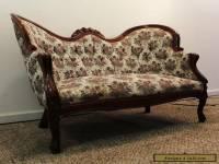 Antique/Vintage Carved Victorian Tufted Walnut Setee/Loveseat