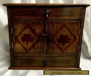 EARLY 20TH CENTURY  OAK TABLE CABINET - ENCLOSING A BRASS RACK for Sale