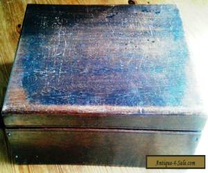 Vintage Wooden Box with added Insert. for Sale