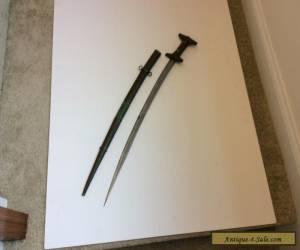 NICE OLD ANTIQUE AFRICAN  MOROCCAN JABOULI GENOI NO KOUMMYA NIMCHA SWORD DAGGER for Sale