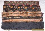 AU USED BUT WEARABLE ART SILK ANTIQUE VINTAGE SARI SAREE 5 YD D15 Black #02PAE for Sale