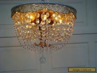 Vintage 1920s Pan Chandelier 8 Light