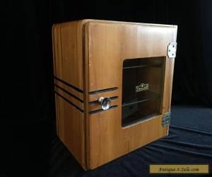 Vintage Sterilizer Barber / Medical Wooden Cabinet / Wood Box with Glass shelves for Sale