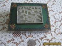Cloisonne Enamelled Box w/Carved Jade Dragon Lid: Antique