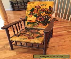 Antique Wood Victorian Child's Chair with adjustable backrest   for Sale