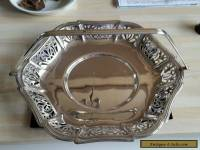 Beautiful  Silver Plated Art Deco Style Cake Stand In Good Condition. No reserve