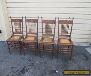56629   Set 4 Antique Solid oak Dining room Chair s Chairs for Sale