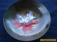 Vintage enamel on copper trinket dish