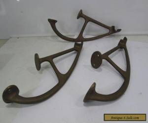 3 Vintage Brass Bar Foot Rail Brackets? for Sale