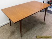 Mid Century Danish Modern Walnut Surfboard Dining Table w/ Extension Leaf