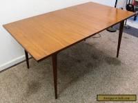 Mid Century Danish Modern Walnut Surfboard Dining Table w/ Extension Leaf