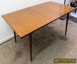 Mid Century Danish Modern Walnut Surfboard Dining Table w/ Extension Leaf for Sale