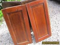 vintage pair of mahogany panels-  salvage