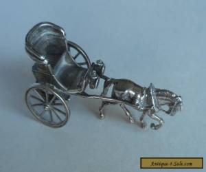 Antique Victorian Solid Silver Horse & Trap - Unusual Item for Sale