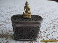 Chinese Antique Silver over Bone Snuff/Tobacco Box