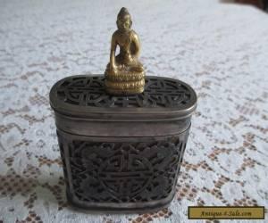 Chinese Antique Silver over Bone Snuff/Tobacco Box for Sale