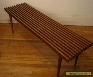 VINTAGE 1950S SLAT BENCH COFEE TABLE MID CENTURY MODERN for Sale