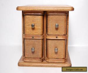 Antique Sewing Machine Drawers Cabinet 4 Drawer Chest Brass Pulls Clean Vintage for Sale